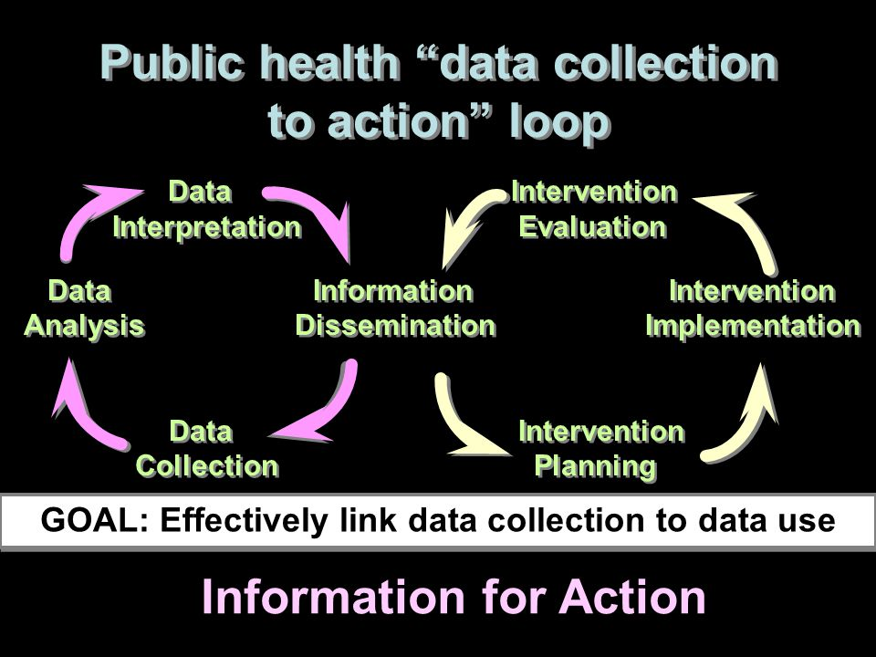 Public health data collection to action loop