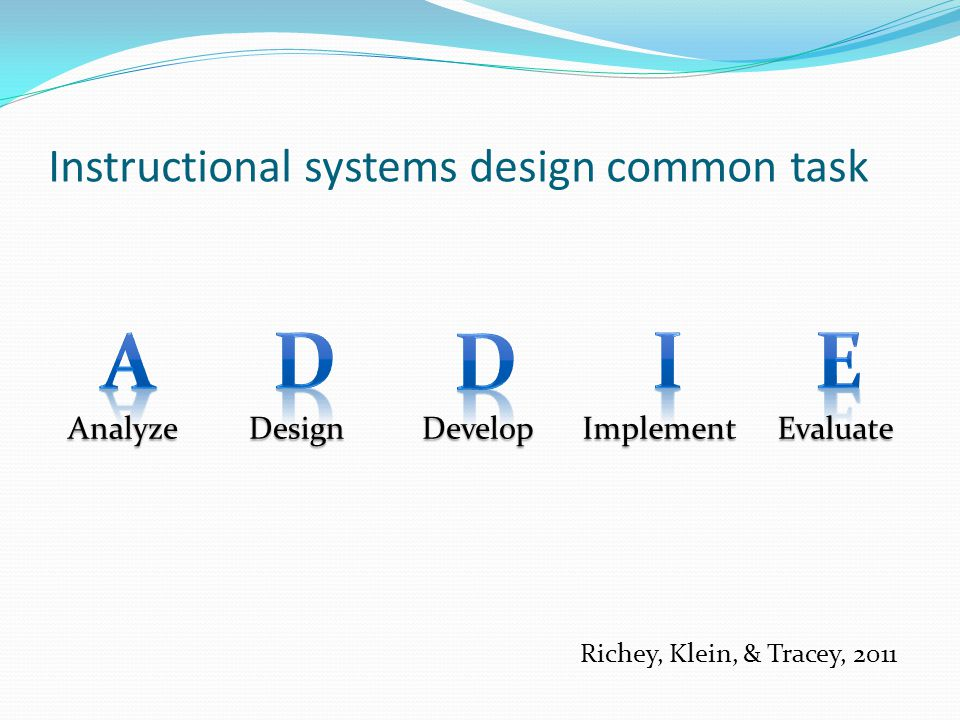 Instructional systems design common task
