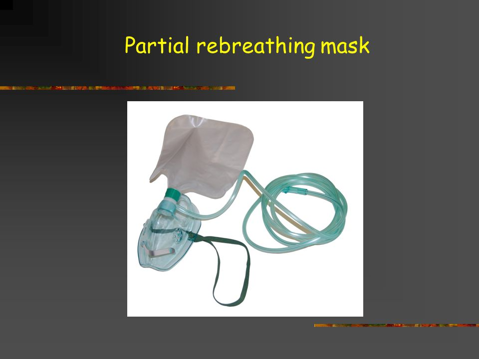 Partial rebreathing mask