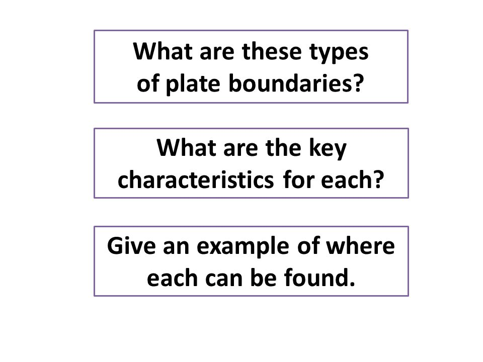 What are these types of plate boundaries