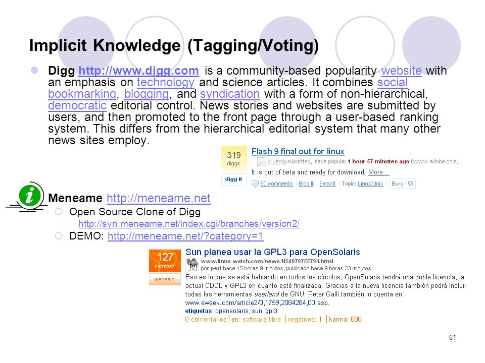 Implicit Knowledge (Tagging/Voting)
