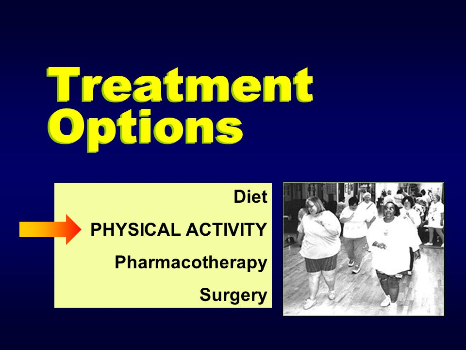 Treatment Options Diet PHYSICAL ACTIVITY Pharmacotherapy Surgery