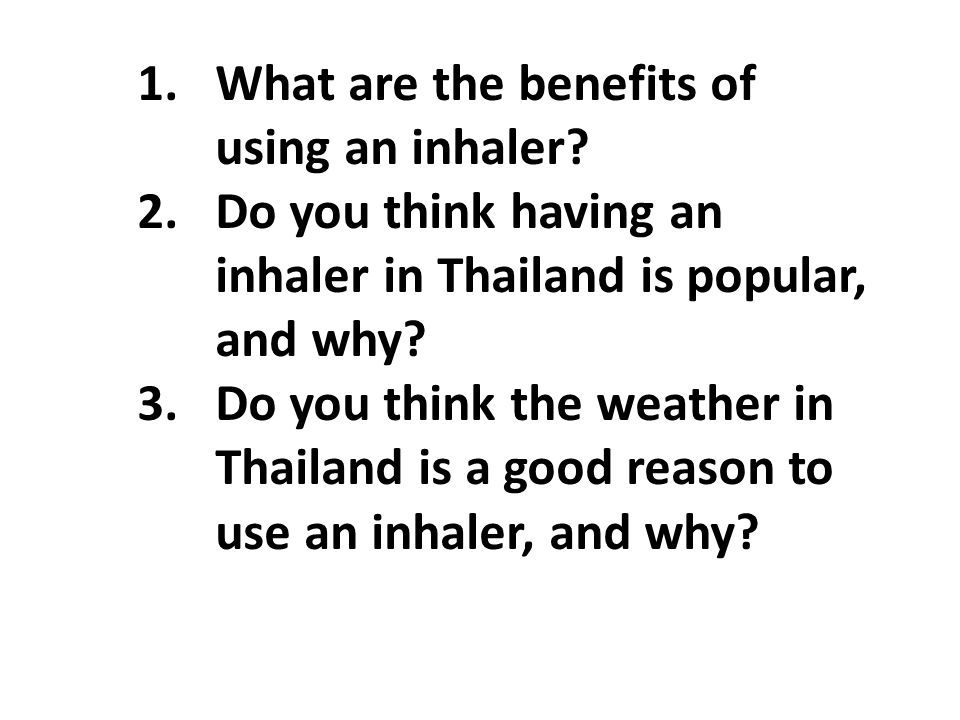 What are the benefits of using an inhaler