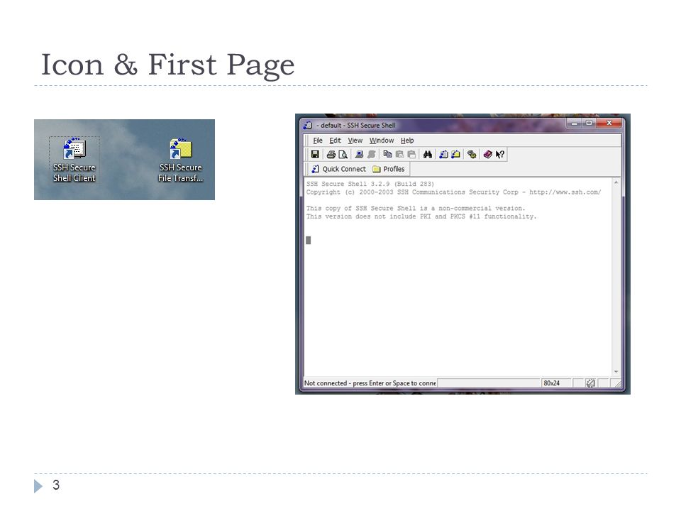 Icon & First Page