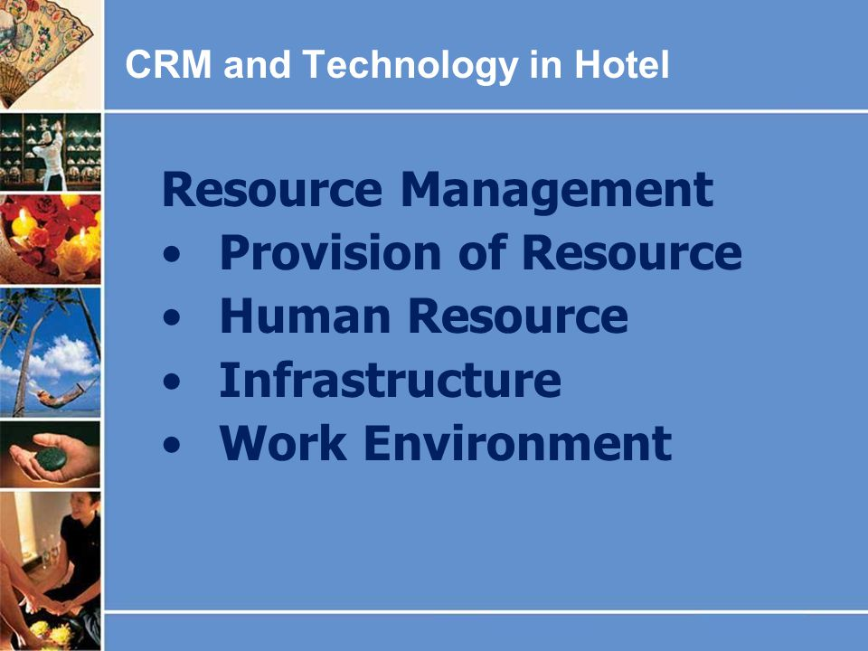 Resource Management Provision of Resource Human Resource