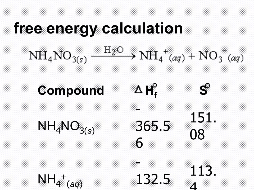 free energy calculation