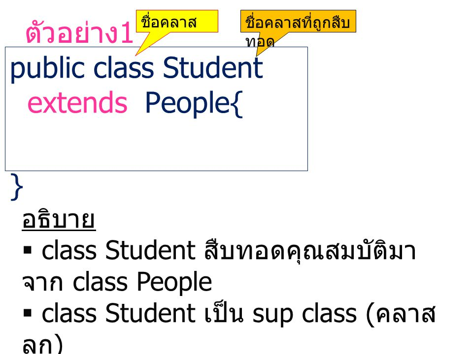 public class Student extends People{ }
