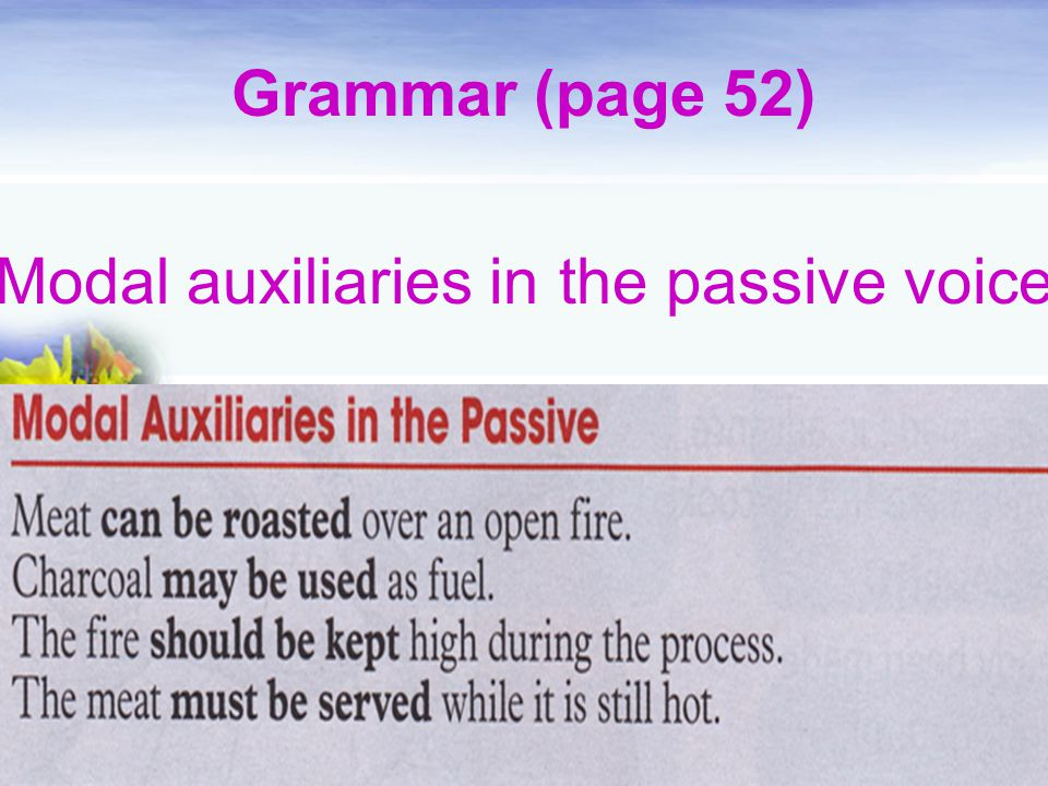 Modal auxiliaries in the passive voice