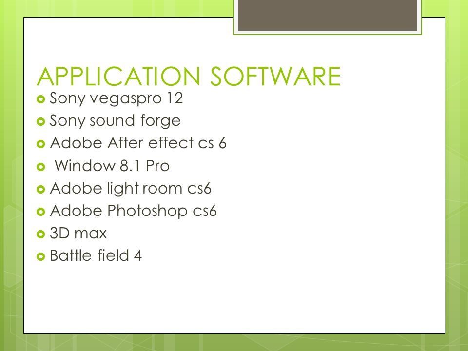 APPLICATION SOFTWARE Sony vegaspro 12 Sony sound forge