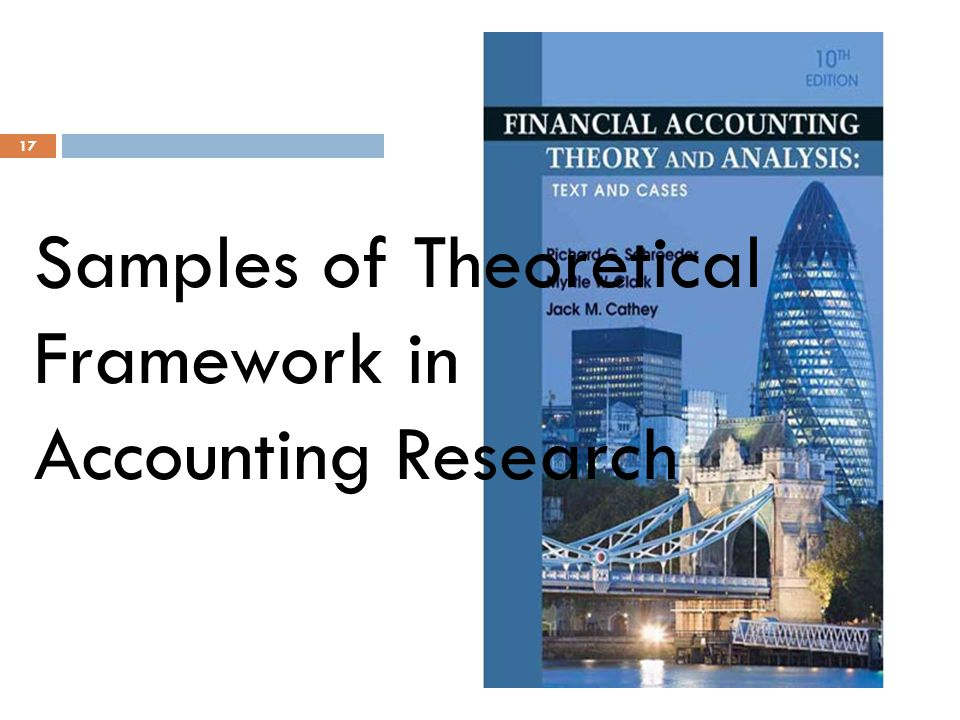 Samples of Theoretical Framework in Accounting Research